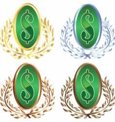 money wreath vector image vector image