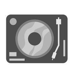 simple black turntable vector image