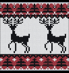 winter knitted nordic pattern vector image