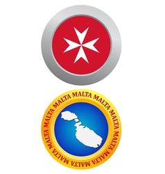 button as a symbol MALTA vector image vector image