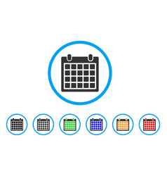 calendar rounded icon vector image vector image