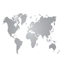 gray world map on white background vector image vector image