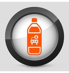 orange and gray elegant glossy icon vector image vector image