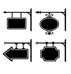 Set of retro graphic forged signboards vector image vector image