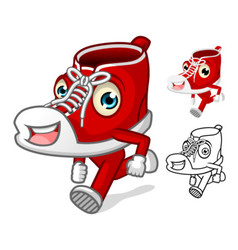 Shoes Mascot with Extremities vector image vector image