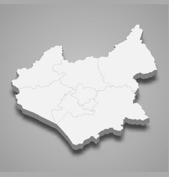 3d map leicestershire is a ceremonial county vector