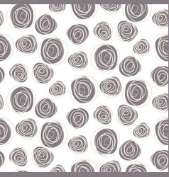 Abstract scribble circles background vector