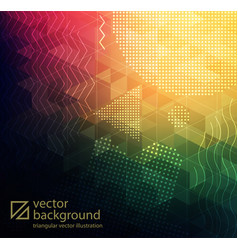Abstract textured polygonal background vector