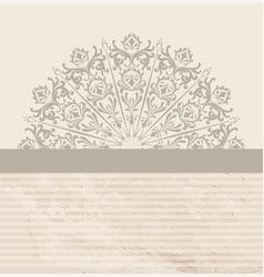 abstract vintage background retro textured floral vector image