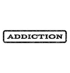 Addiction watermark stamp vector