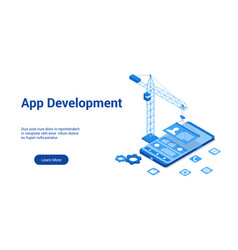 app development 3d bluetemplate vector image