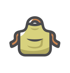 apron with outsets and pockets cartoon vector image