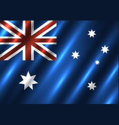 australia national flag background vector image