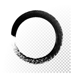 Black ink circle paint stroke vector