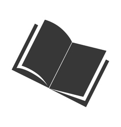 Book front open single read education vector