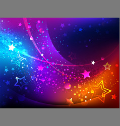 Bright abstract background with stars vector