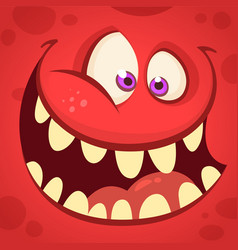 cartoon monster face isolated avatar vector image