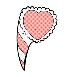 comic cartoon love heart symbol vector image