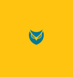 creative blue logo icon on a yellow background vector image