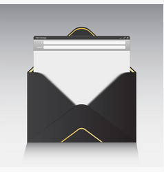 creative of email message vector image