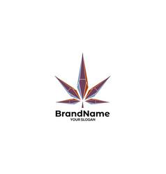 diamond leaf logo design vector image