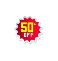 discount 50 off template design vector image