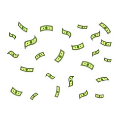 dollar money rain pop art vector image