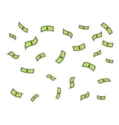 Dollar money rain pop art vector