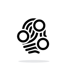 Fingerprint loop type scan icon on white vector image