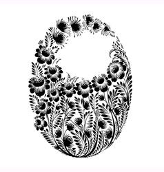 Floral decorative silhouette vector