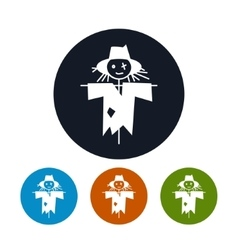 Four Types of Round Icons Scarecrow vector image