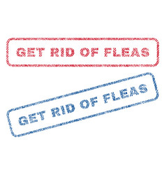 Get rid fleas textile stamps vector