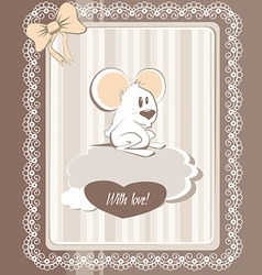 greeting mouse vector image