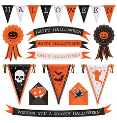 Halloween decorations vector