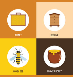 honey object cartoon style vector image
