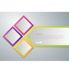 infographics paper squares vector image
