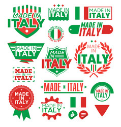 label made in italy vector image