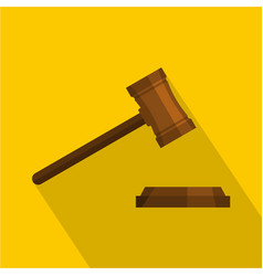 legal gavel icon flat style vector image