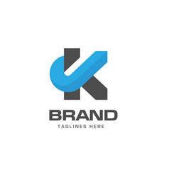 Letter k logo concept vector