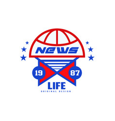 Life news logo original design est 1987 social vector