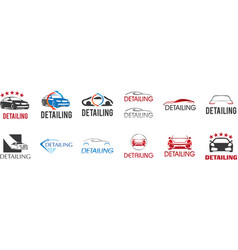 Logo for detailing car and tuning vector