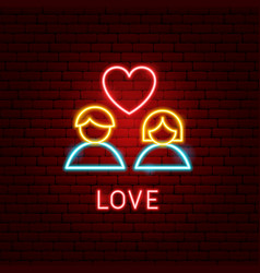 love neon label vector image