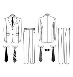 mens suits man office suits classic jacket and vector image