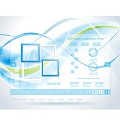 Modern blue website template vector image