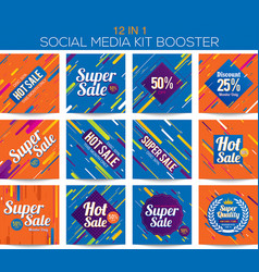Multipurpose social media kit booster vector