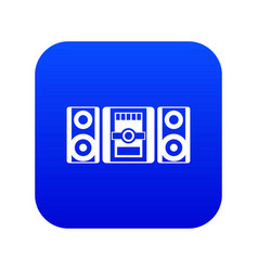 music center icon digital blue vector image
