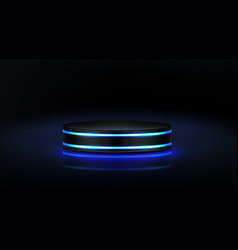 neon podium empty stage for product presentation vector image