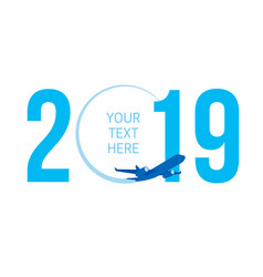 new year concept - airplane vector image