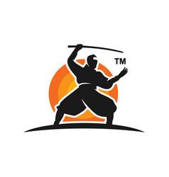 ninja logo design vector image