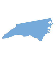 North carolina state map vector